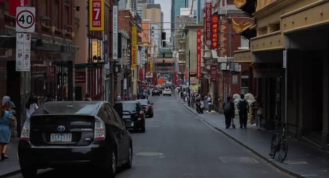 Melbournes Chinatown street