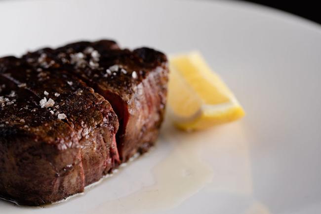 rockpool steak with lemon