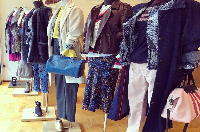designer clothes on a mannequin