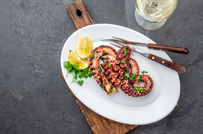 a plate of delicious octopus