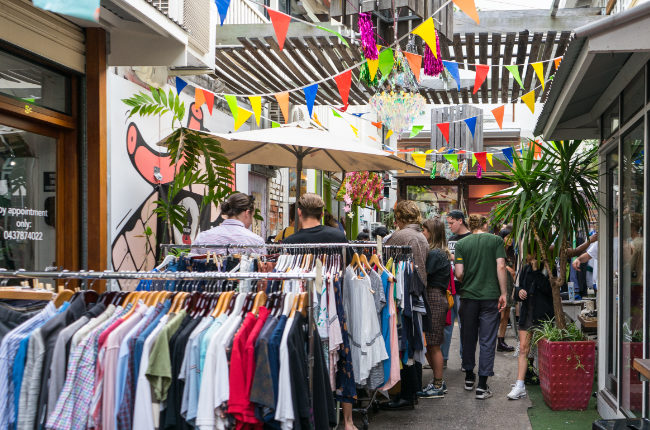 a stunning selection of clothing stalls at valley laneway markets